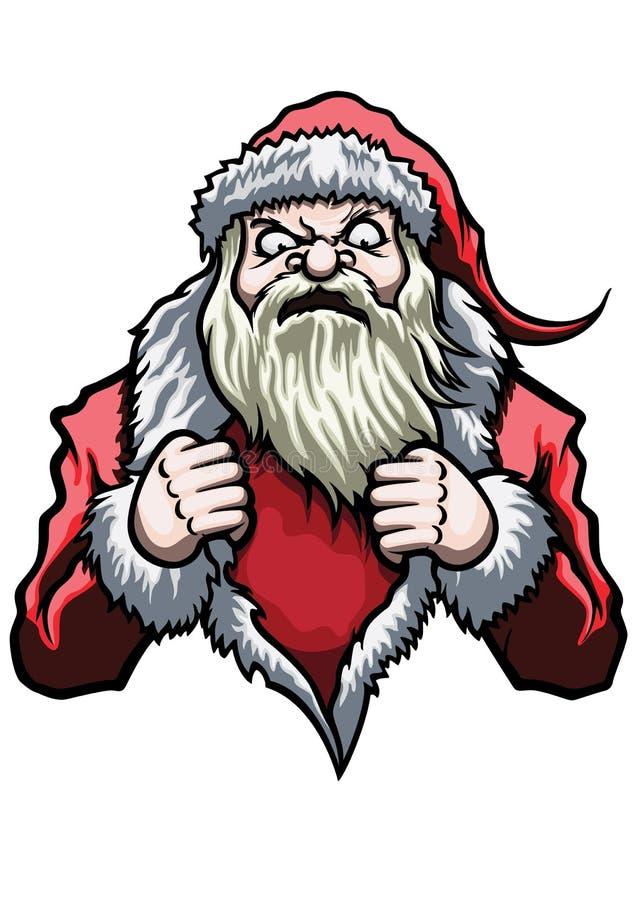 Santa Claus Super Hero stock de ilustración