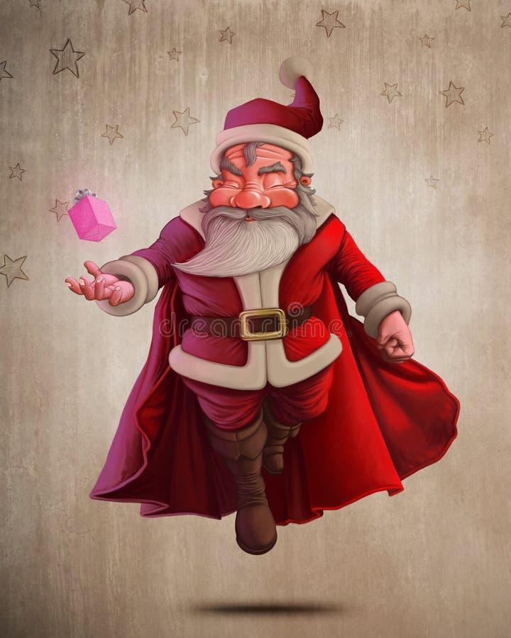 Santa Claus Super Hero vector illustratie