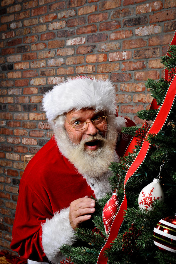 Santa Claus Surprised royalty free stock photography