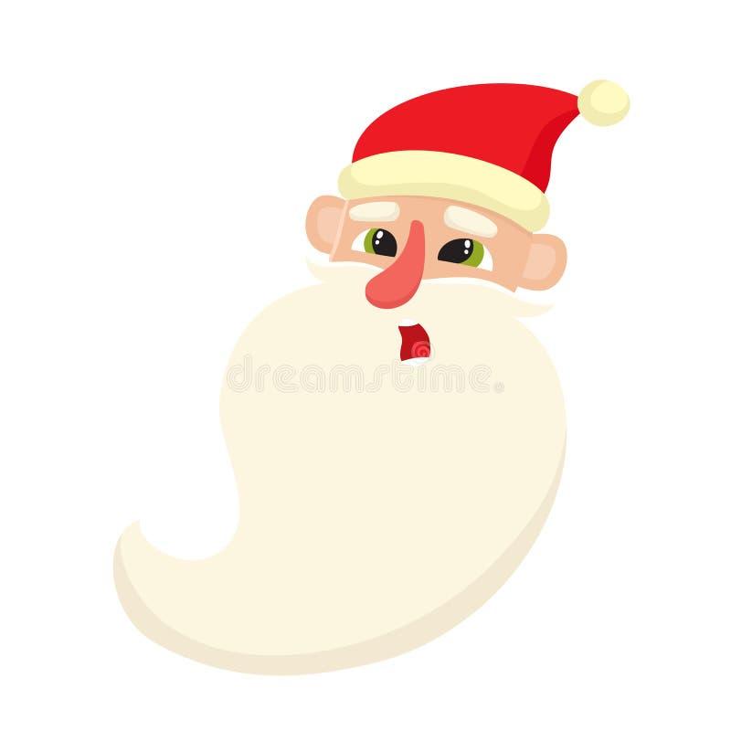 Santa Claus sveglia, espressione facciale sorpresa, illustrazioni di vettore illustrazione vettoriale