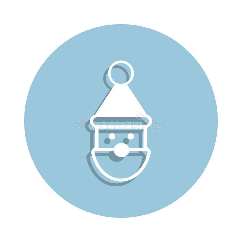 Santa Claus symbol i emblemstil En av samlingssymbolen för det nya året kan användas för UI, UX stock illustrationer