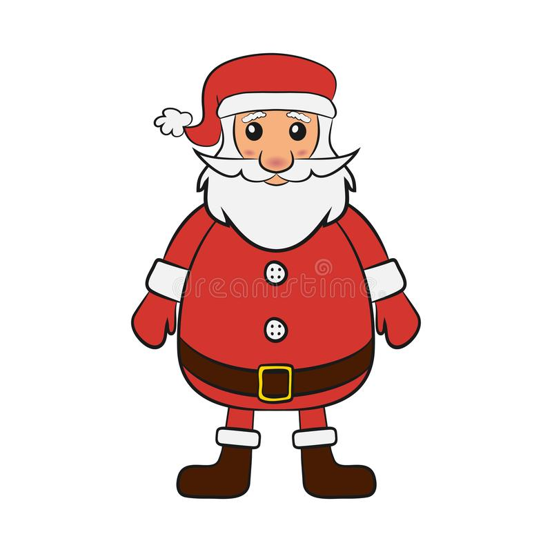 Santa Claus. Symbol of the New Year and Christmas. Father Frost in cartoon style. Vector. vector illustration