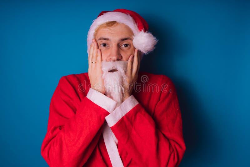 Santa claus Szczęśliwy nowy rok i Wesoło boże narodzenia! obraz royalty free