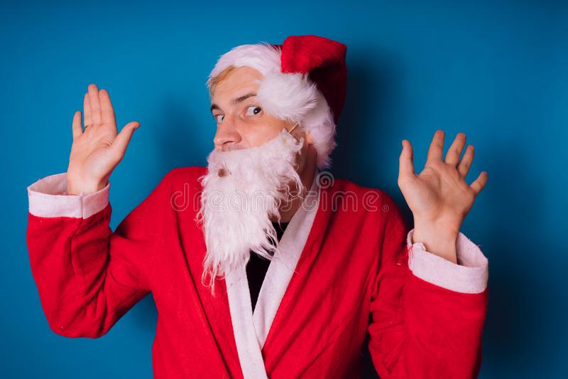 Santa claus Szczęśliwy nowy rok i Wesoło boże narodzenia! zdjęcia royalty free