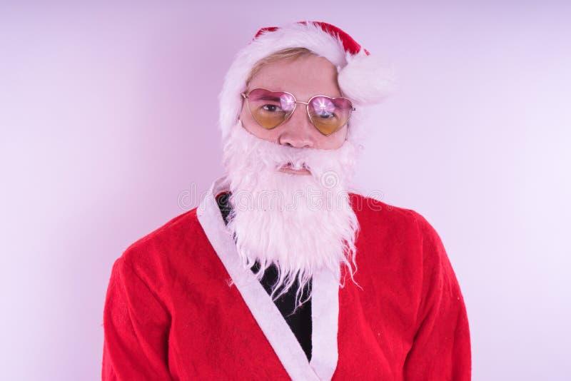 Santa claus Szczęśliwy nowy rok i Wesoło boże narodzenia! fotografia royalty free