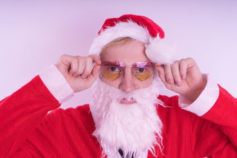 Santa claus Szczęśliwy nowy rok i Wesoło boże narodzenia! obrazy stock
