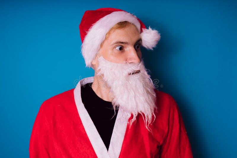 Santa claus Szczęśliwy nowy rok i Wesoło boże narodzenia! zdjęcie royalty free