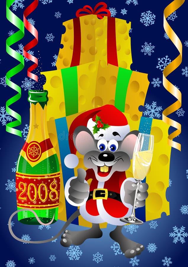 Santa claus szczur. ilustracji