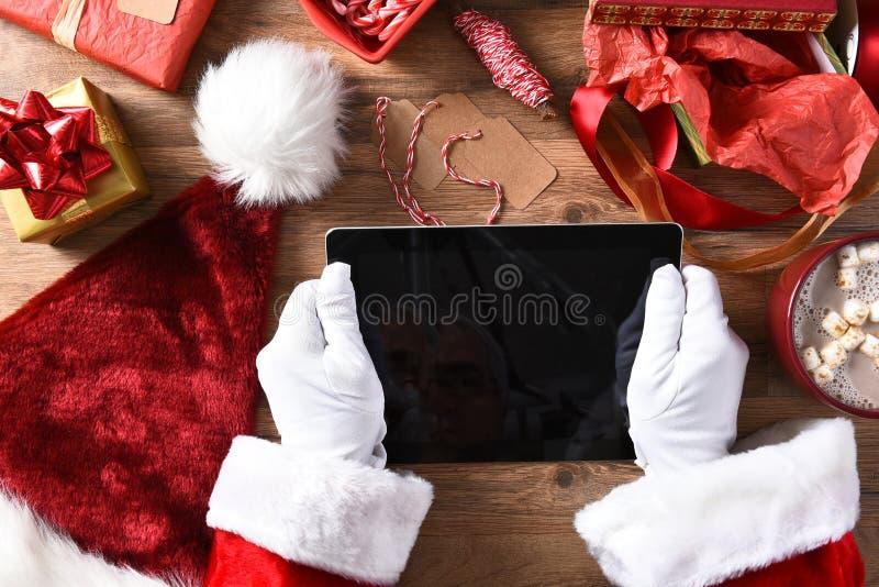 Santa Claus Tablet Computer fotografia de stock