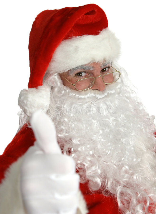 Santa Claus Thumbs Up stock photos