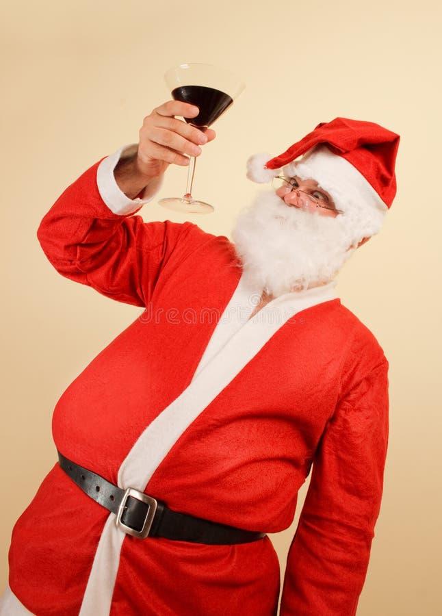 Santa claus toast royalty free stock photography