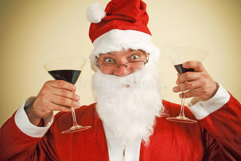 Santa claus toast royalty free stock image