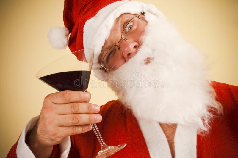 Santa claus toast royalty free stock photos