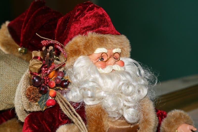 Santa Claus toy. Santa Claus, standard christmas toy royalty free stock photos