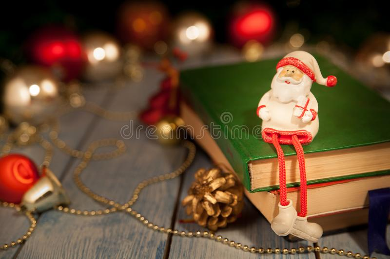 Santa Claus toy on the table stock photography