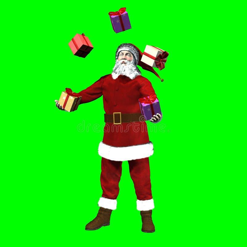 Santa Claus Toys stock de ilustración
