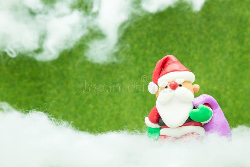 Santa Claus van de klei royalty-vrije stock afbeeldingen