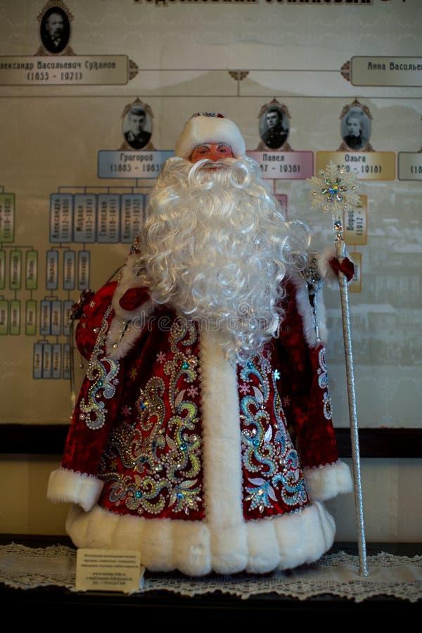 Santa Claus van het oude die stuk speelgoed Nieuwjaar in de Sovjetunie wordt gemaakt stock foto