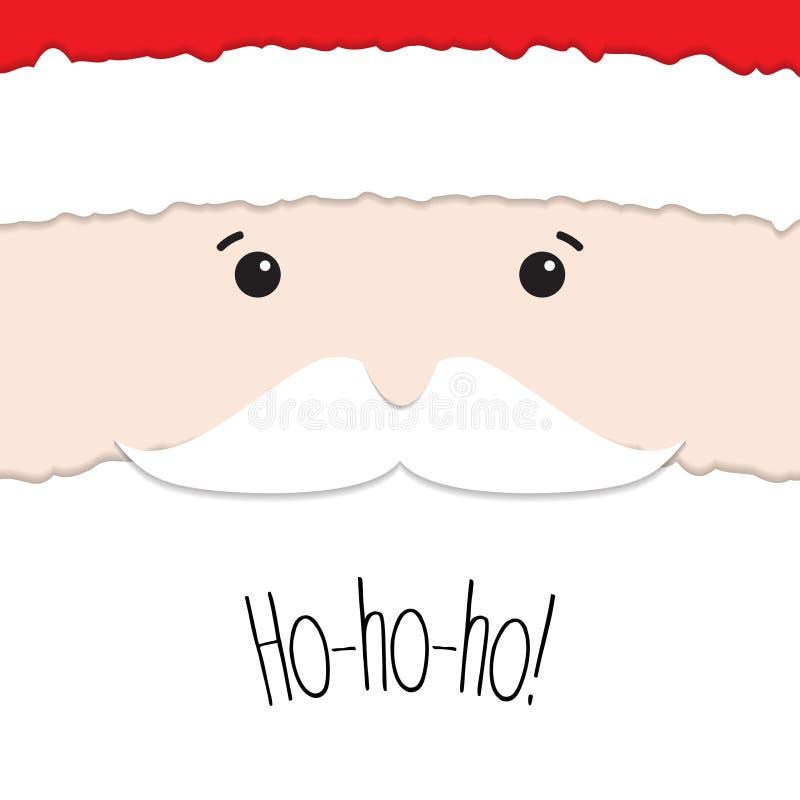 Santa Claus van opengescheurd document wordt gemaakt dat stock illustratie