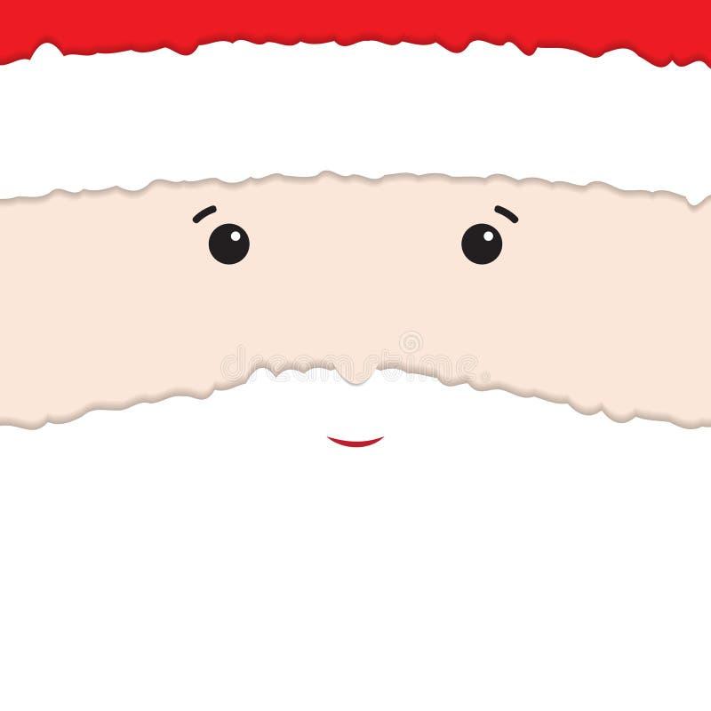 Santa Claus van opengescheurd document wordt gemaakt dat vector illustratie