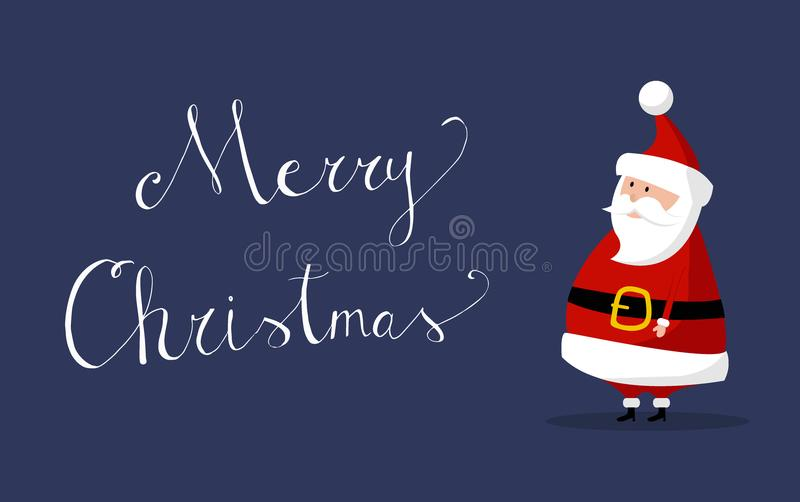 Santa Claus Vector with `Merry Christmas` wishes on the right royalty free stock photos
