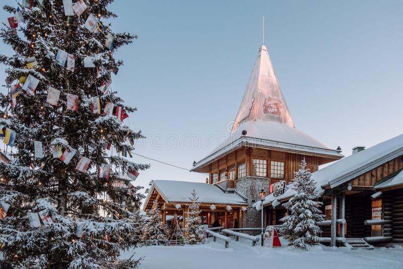 Santa Claus village in Finland stock image