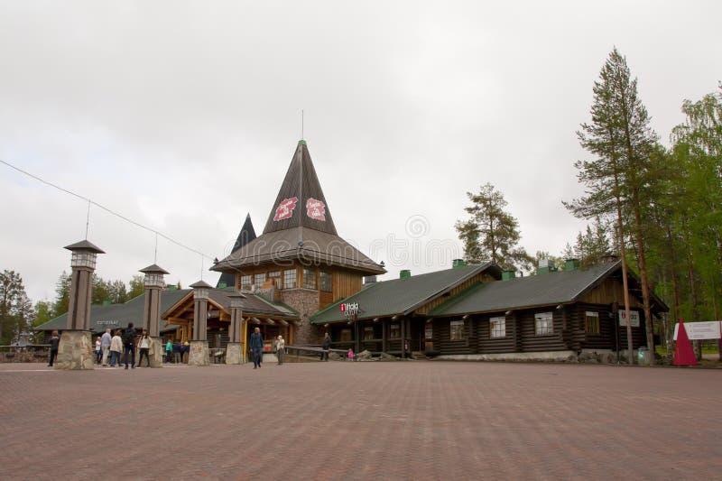 Santa Claus Village, Noordpoolcirkel royalty-vrije stock afbeeldingen