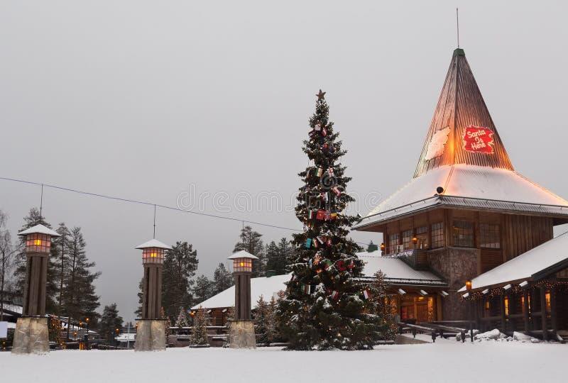 Santa Claus Village in Rovaniemi royalty-vrije stock afbeeldingen