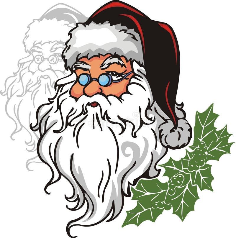 Santa Claus - vinyl-ready vector illustration. Christmas set - vector illustration. Vinyl-Ready vector clipart stock illustration