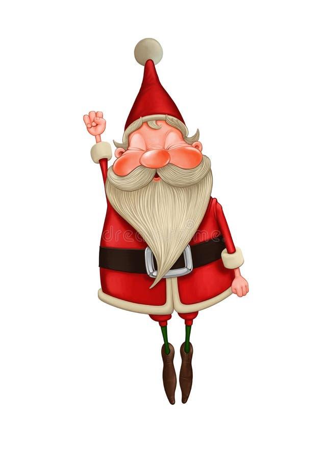 Santa Claus-vliegen royalty-vrije illustratie
