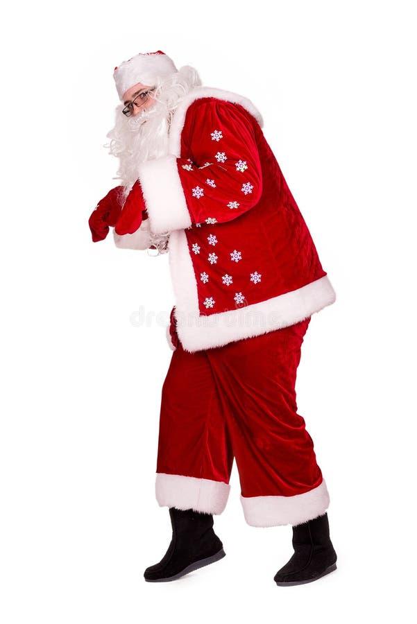 Santa Claus walk. royalty free stock photography