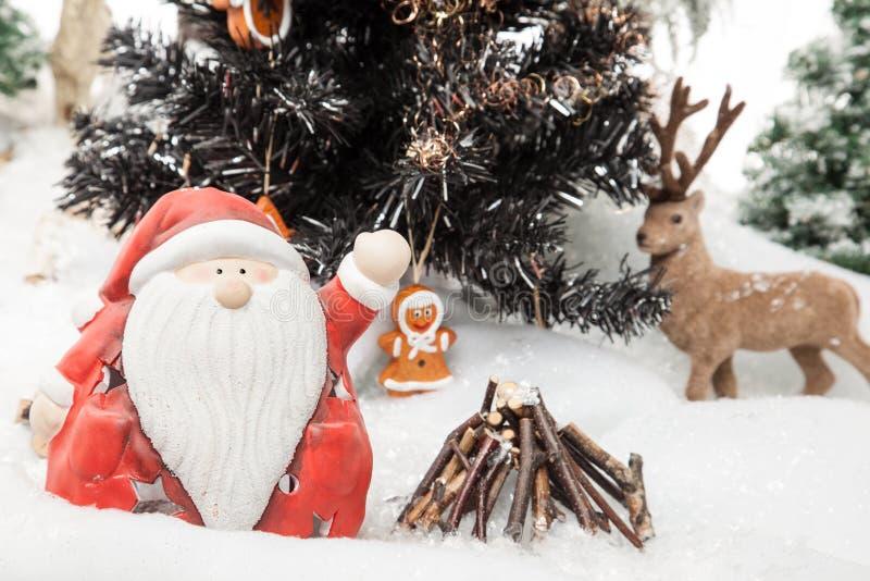 Santa Claus-Weihnachtswünsche stockfotos