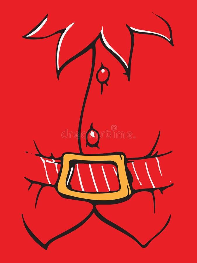 Santa claus weso?ych ?wi?t 10 t?o projekta eps techniki wektor Odizolowywaj?cy na czerwonym tle royalty ilustracja