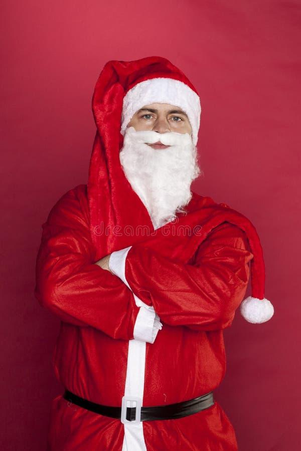 Santa Claus wil niet werken royalty-vrije stock foto