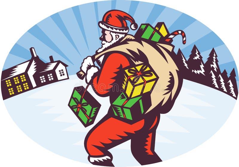 Santa claus winter presents
