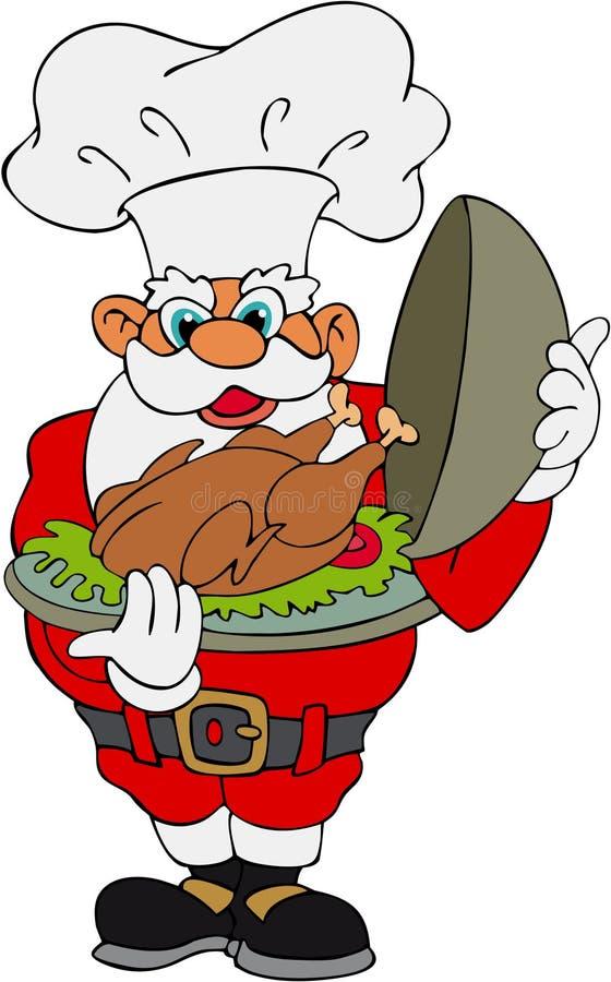 Free Santa Claus With Christmas Turkey Stock Image - 1341651