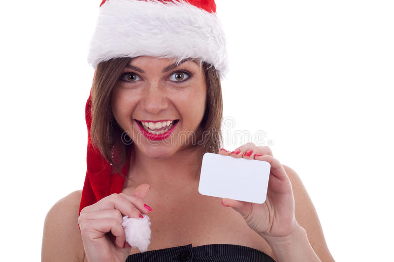 Download Santa Claus Woman With Card Royalty Free Stock Photo - Image: 17098645
