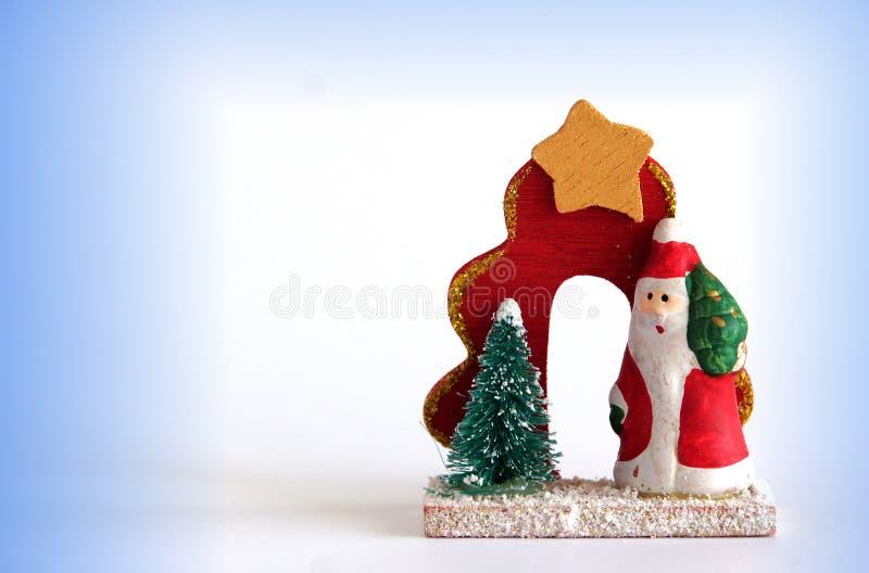 Santa Claus wooden figurine royalty free stock photo