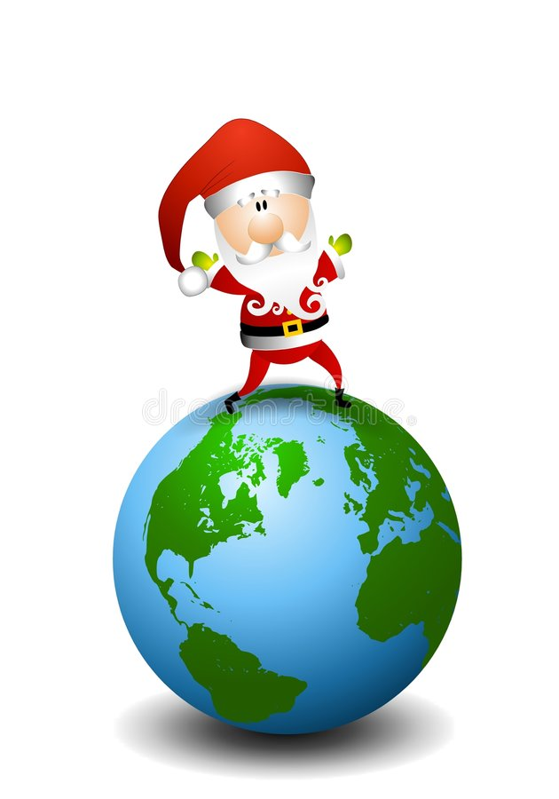 Santa Claus World Peace vector illustration