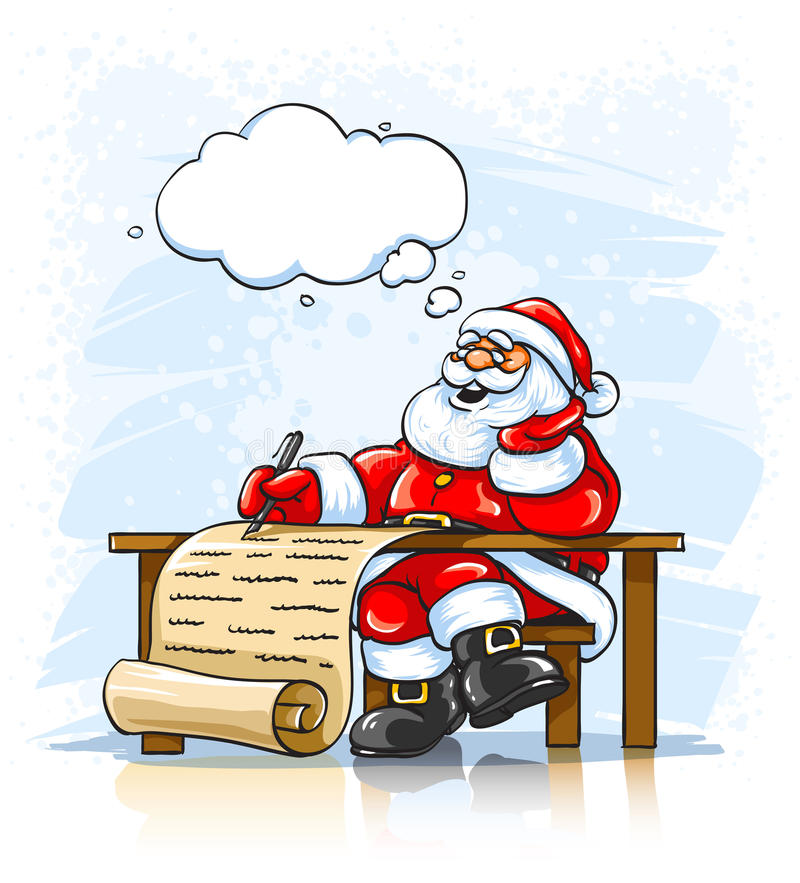 Download Santa Claus Writing Christmas Greeting Letter Stock Vector - Illustration of sitting, smile: 11738754