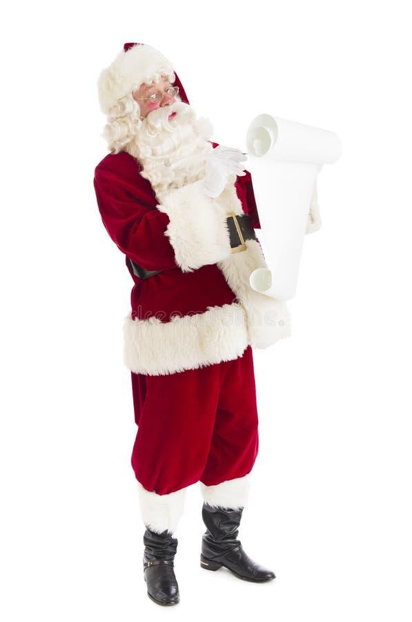 Santa Claus Writing List royalty-vrije stock afbeeldingen
