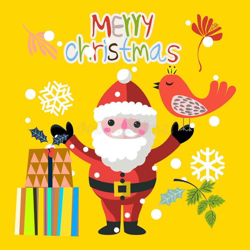 Santa Claus y pájaro divertidos libre illustration