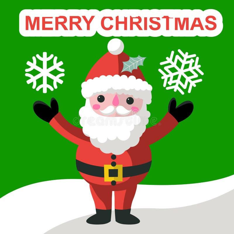 Santa Claus y pájaro divertidos ilustración del vector