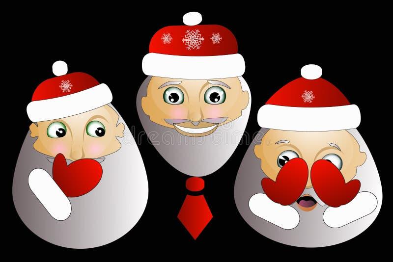 Santa Claus z brody ilustracją Bożenarodzeniowy modnisia plakat dla przyjęcia lub kartka z pozdrowieniami wesoło sztuka projekta  ilustracji