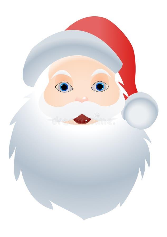 Santa Claus-Zeichentrickfilm-Figur, Weihnachtsillustration vektor abbildung