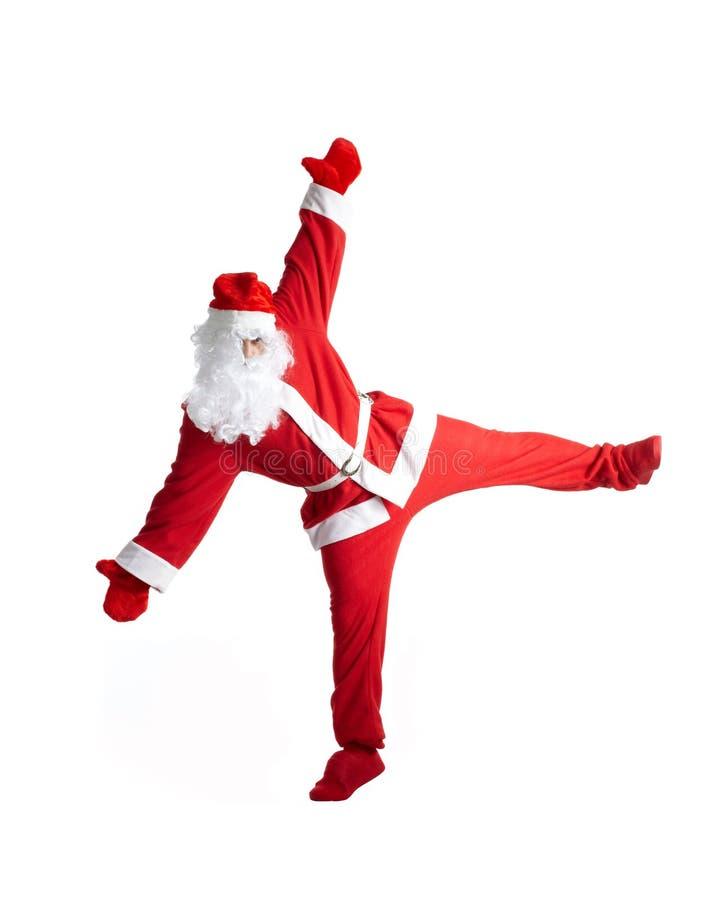 Santa Clause. Dancer white background royalty free stock image