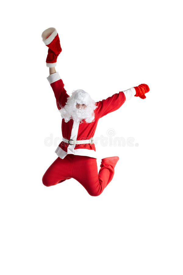 Santa Clause. Dancer white background stock photography