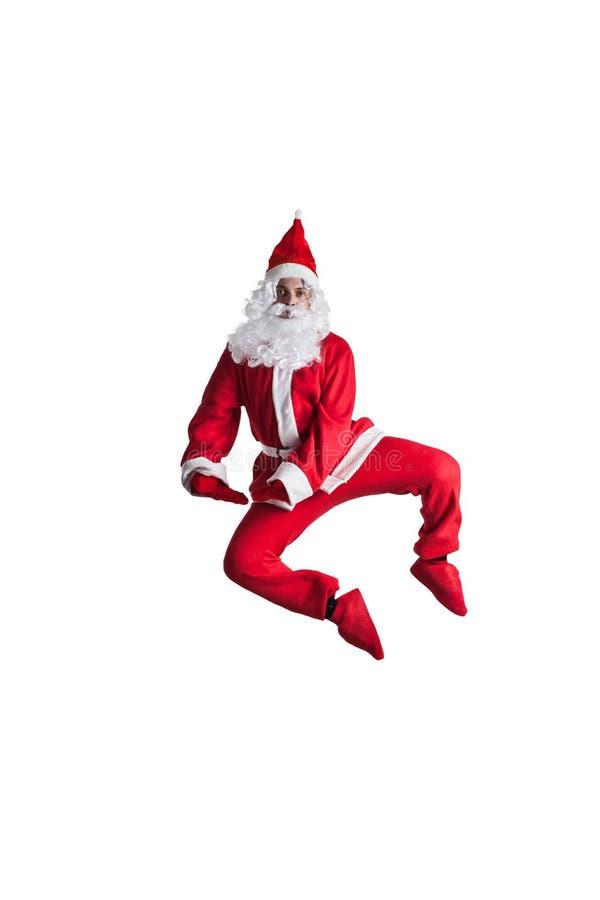 Santa Clause. Dancer white background royalty free stock photos