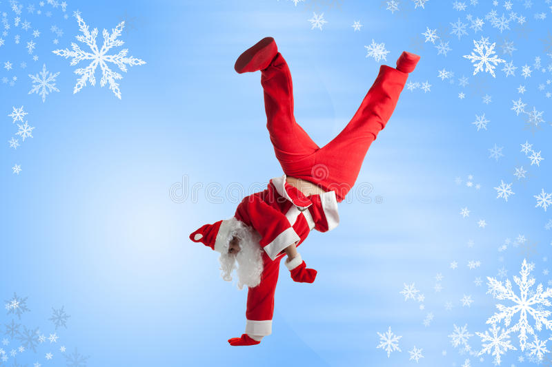 Download Santa Clause stock photo. Image of jeans, happy, dance - 16975626