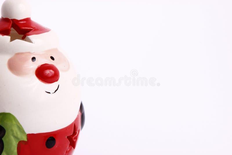 Santa clause. Souvenir Santa clause on white background royalty free stock photos